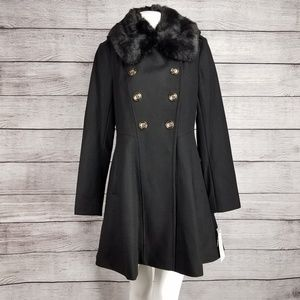 NEW Via Spiga Double Breasted 6 Trench Wool Coat